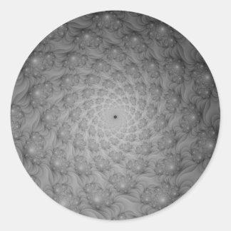Spiral of Spirals in Monochrome Round Sticker