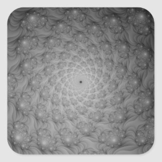 Spiral of Spirals in Monochrome Sticker