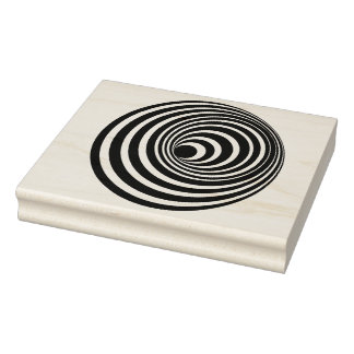 Spiral Optical Illusion Rubber Art Stamp