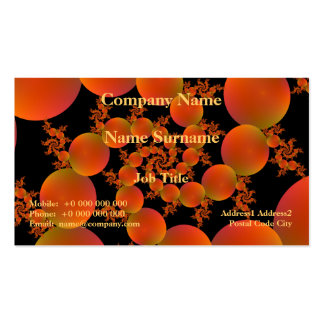 Spiral Oranges Business Card Template