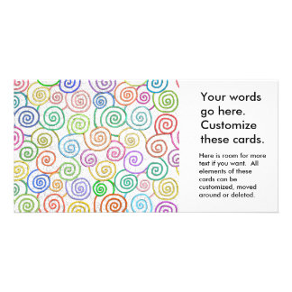 Spiral pattern spirals loops circles hand drawing photo cards
