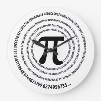 Spiral Pi Symbol Design Wall Clock