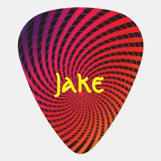 spiral psychedelic design guitar pick. Black Bedroom Furniture Sets. Home Design Ideas