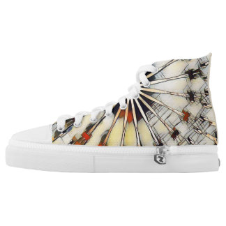 Spiral Rabbit Kaleidoscope High Tops