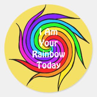 Spiral Rainbow I am your Rainbow Sticker