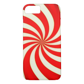 Spiral Red Classic Candy Cane iPhone 7 Case