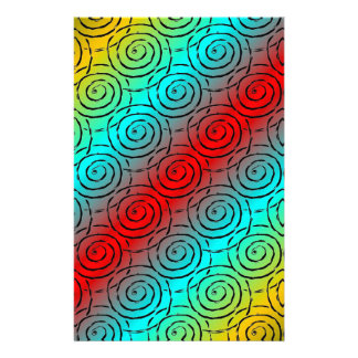 Spiral Ripple Personalised Stationery
