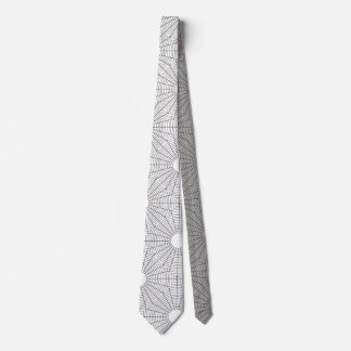 Spiral Rounds Black and White Engineer Theme Tie