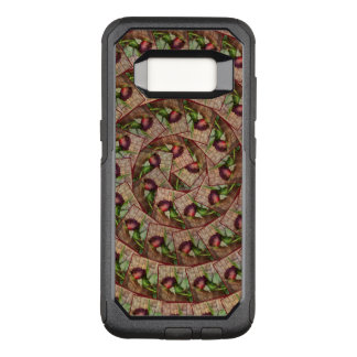 Spiral Rustic Red Textured Grunge Rose On Wood OtterBox Commuter Samsung Galaxy S8 Case