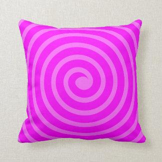 Spiral  -  Shades of Magenta Throw Pillow
