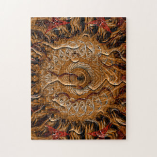 Spiral Splatter 2 (red brown) Jigsaw Puzzle