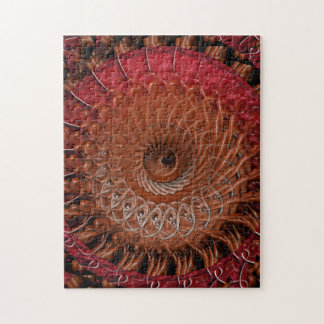 Spiral Splatter (red brown) Jigsaw Puzzle