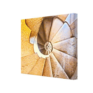 Spiral Staircase in the Sagrada Familia Canvas Print