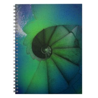 spiral stairs notebook