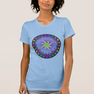 Spiral sumi-E deisgned mandala. Tee Shirt