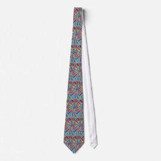 Spiral Swirl Pastel Rainbow Tie-Dyed NeckTie
