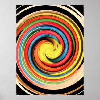 Spiral Swirl Poster