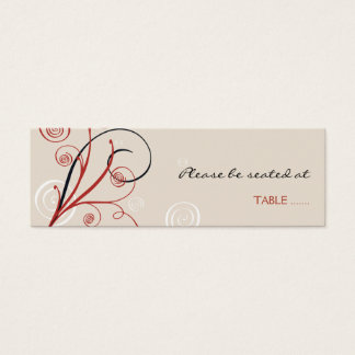 Spiral Table Place Card