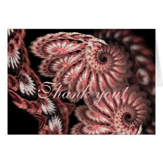 Spiral thank you card