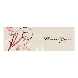Spiral Thank You Tag Pack Of Skinny Business Cards
