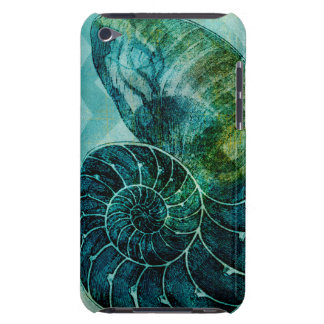 Spiral Turquoise Conch Shell Barely There iPod Cover