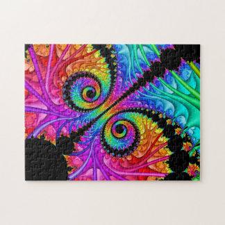 Spiral Twins Fractal Art Puzzle