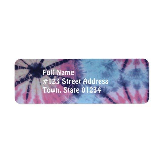 Spiral Tye Dye Mailing Labels