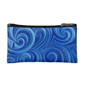 spiral wave cosmetic bags