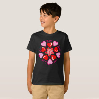 Spiral Whirlwind Of Love Pink Red Kids T-Shirt