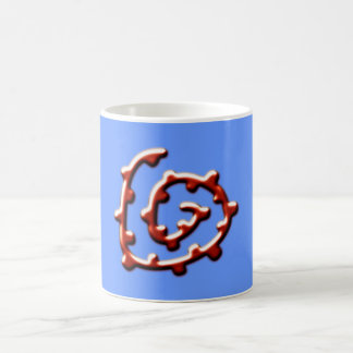 Spiral with knot spiral with knots coffee mugs