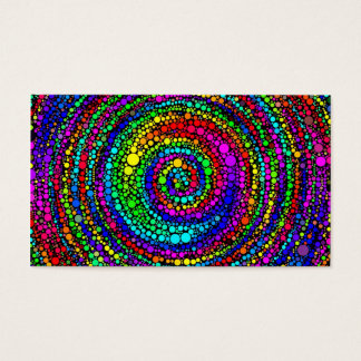 Spiral with Rainbow Dots Business Card