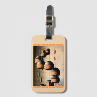 Spiraled Clay Wind Chimes Still Life Luggage Tag