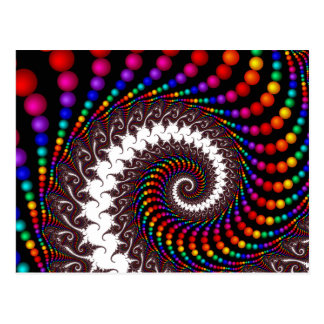 Spiraling Beads Postcard