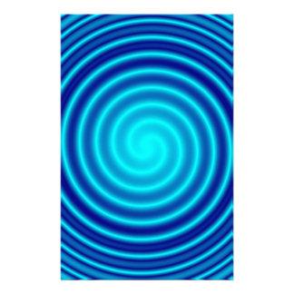 Spiraling Blue Vertigo Custom Stationery