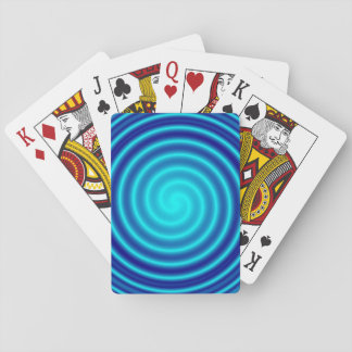 Spiraling Blue Vertigo Playing Cards