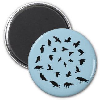 Spiraling Crow Magnet