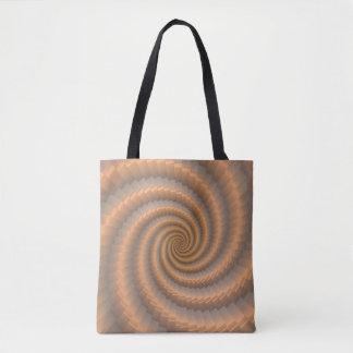 Spiraling Gold Tote Bag by Julie Everhart