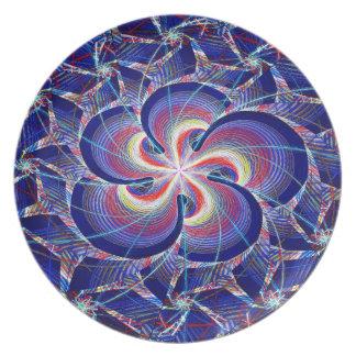 Spiraling Sprinkles Melamine Plate