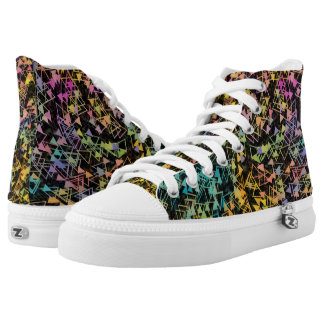 Spiraling Triangles High Tops
