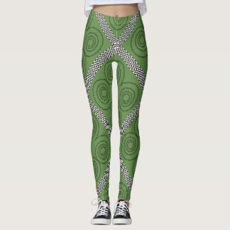 Spirals and Diamonds Leggings