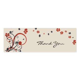 Spirals & Flowers Thank You Tag Pack Of Skinny Business Cards