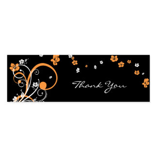 Spirals & Flowers Thank You Tag Card Pack Of Skinny Business Cards