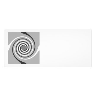 Spirals in Gray and White Stylish swirls Personalized Announcement