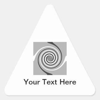 Spirals in Gray and White. Stylish swirls. Sticker