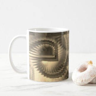 Spirals in sepia coffee mug