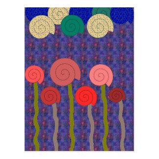 spirals postcard