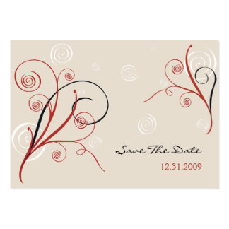 Spirals Save The Date MiniCard Large Business Cards (Pack Of 100)