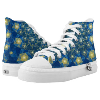 Spirals Stained Glass  High Top Shoes