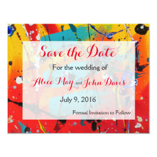 Spirals Wedding Save the Date 11 Cm X 14 Cm Invitation Card