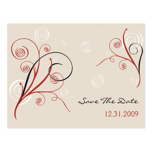 Spirals Wedding Save The Date Card Postcard